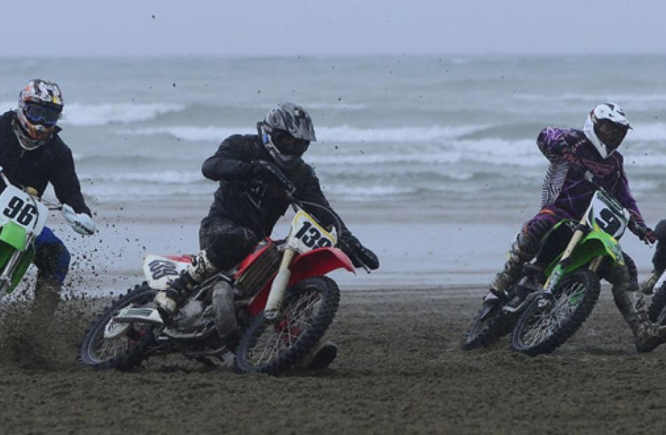 New Zealand Beach racing Champs at Oreti Beach, Otatara, Invercargill.