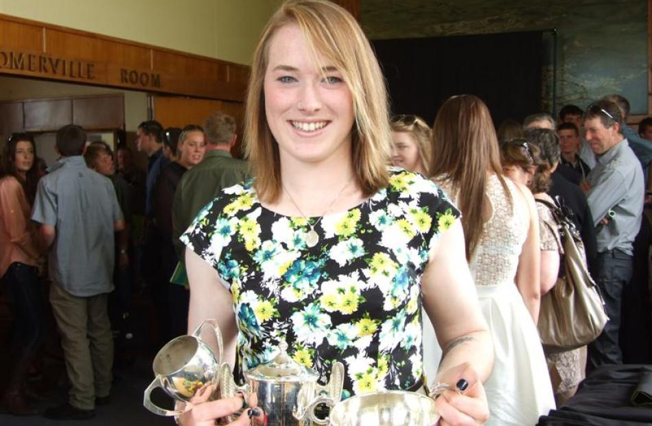 Lauren Wilson (20), of Dunedin, graduated with  five awards and one scholarship.  Photos by...