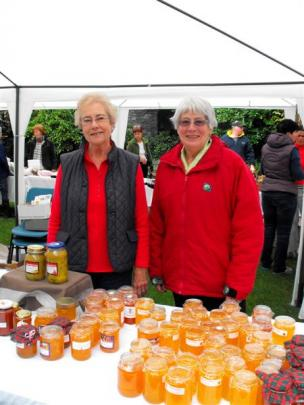 Jams and marmalades on sale from the stall run by Jocelyn Davenport and Pauline Gibson.
