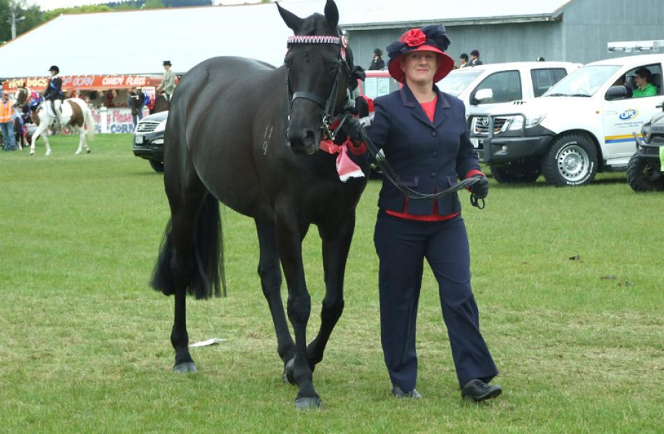 Julieanne Baynes, of Winton, won several prizes with her mare Villa Maria.