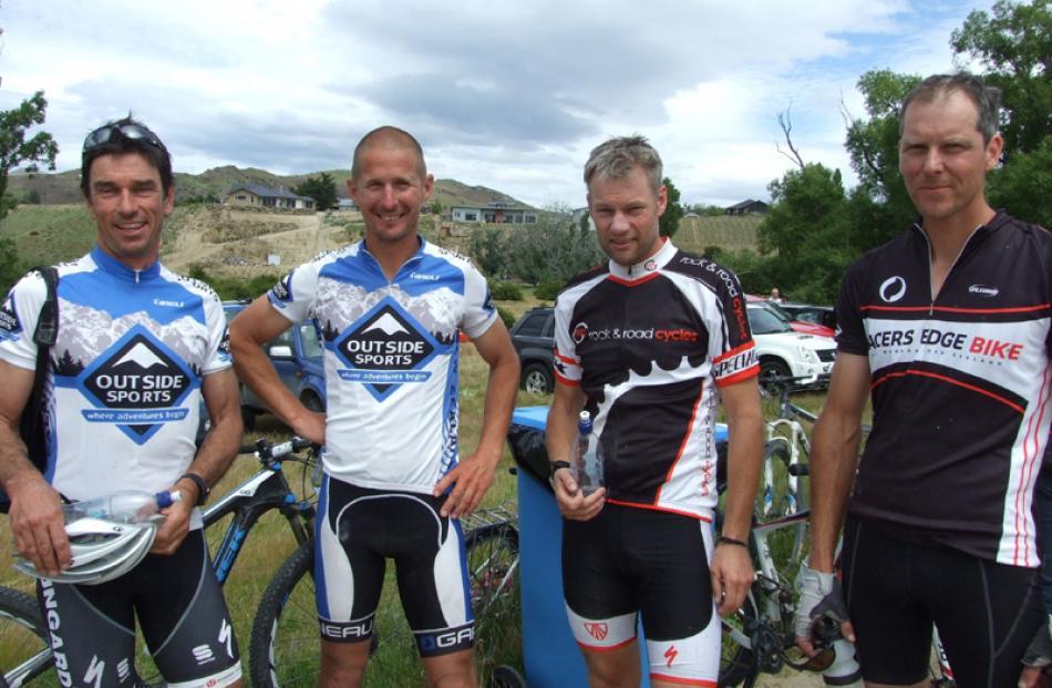 Brian Weedon and Blair Coupe, of Wanaka, Shaun Portegys of Alexandra, and Hamish Fraser of Wanaka.
