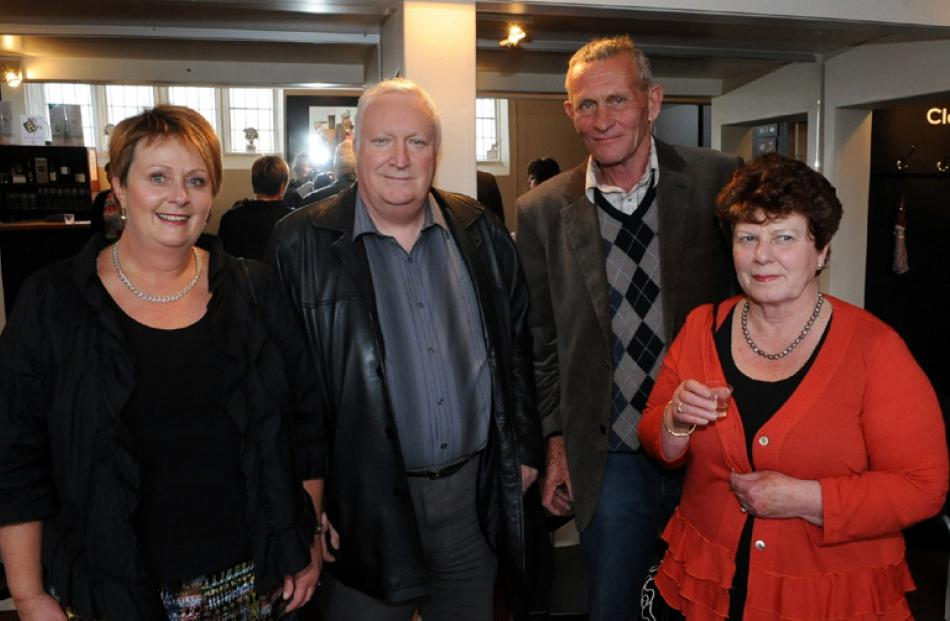 Judy Arnold with husband Brian Dixon, of Dunedin, and James Dickie with partner Aynslie O'Reilly,...