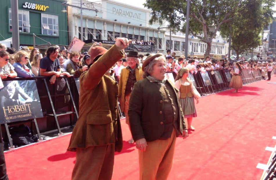Hobbits tread the red carpet at the premiere of 'The Hobbit: An Unexpected Journey'. Photo by...