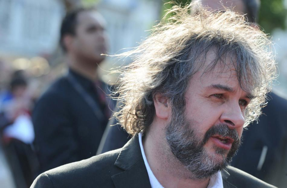 Director Peter Jackson on the red carpet.