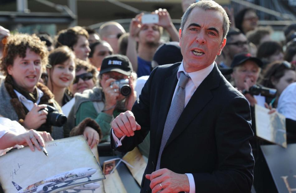 Nasby fan actor James Nesbitt yells to the crowd