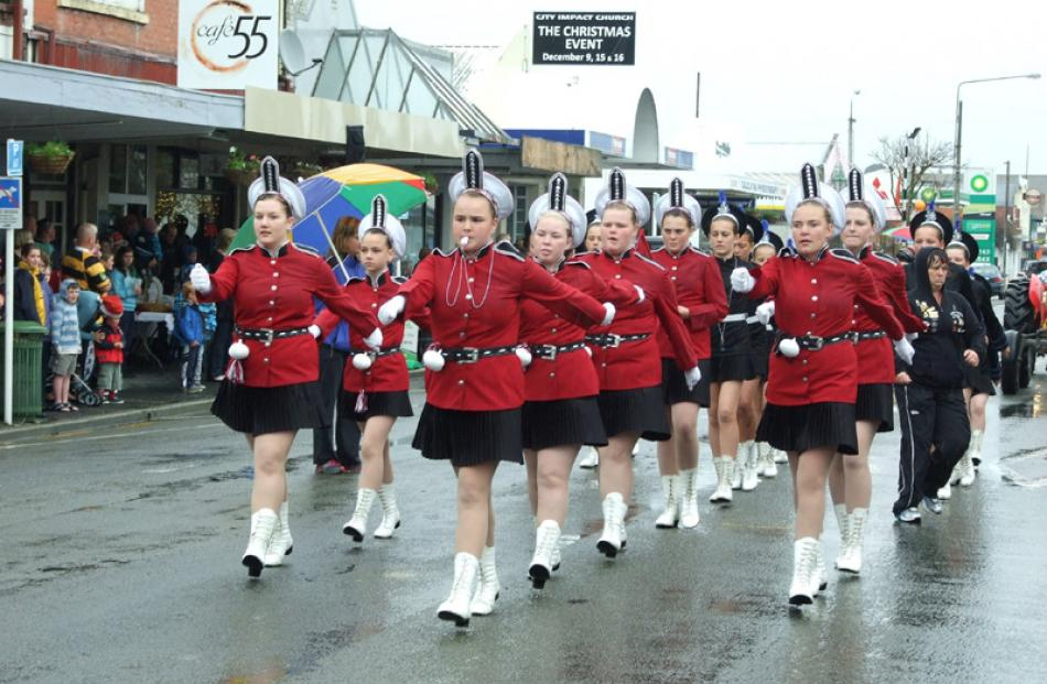 Members of the Clutha Guards marching team.