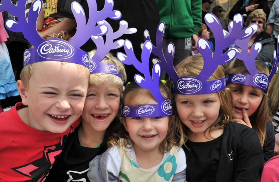 Reindeer from left Jordan King (6), Jackson Nicol (7), Nellie Graves (3), Lucy Nicol (5), Hope...