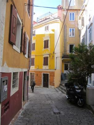 Pick up a self-guided walking brochure and mosey through  Piran's narrow cobbled streets.