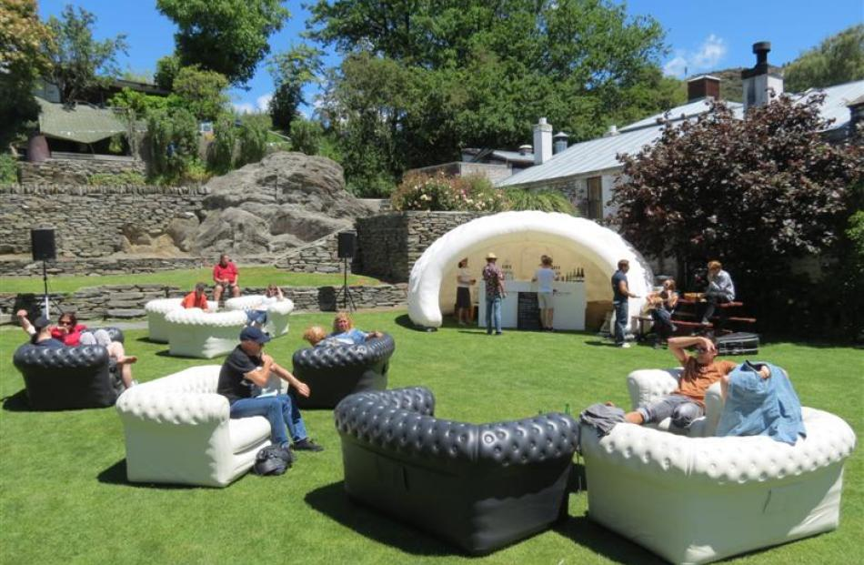 A public lounge, complete with bar, on Buckingham Green was a new addition for the second annual...