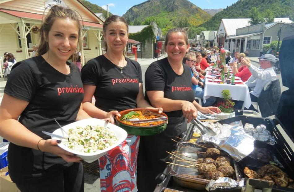 Provisions of Arrowtown staff members (from left) Abi Koberstern, Barb Griffin and Becks O'Malley...