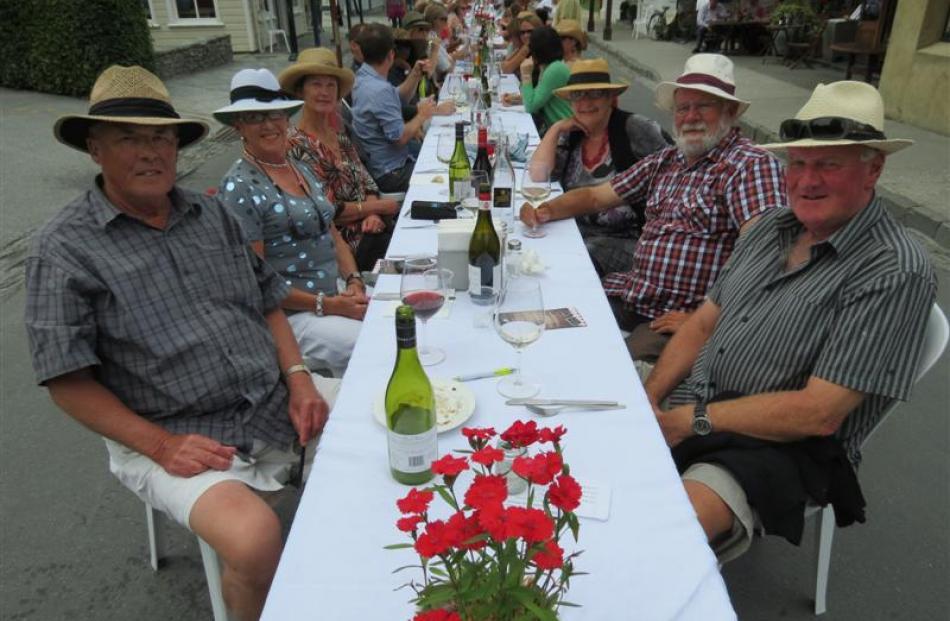 Resident  patrons (from left) Graeme Heazlewood, Jenni Heazlewood, Anne Shaw, Hilary Finnie,...