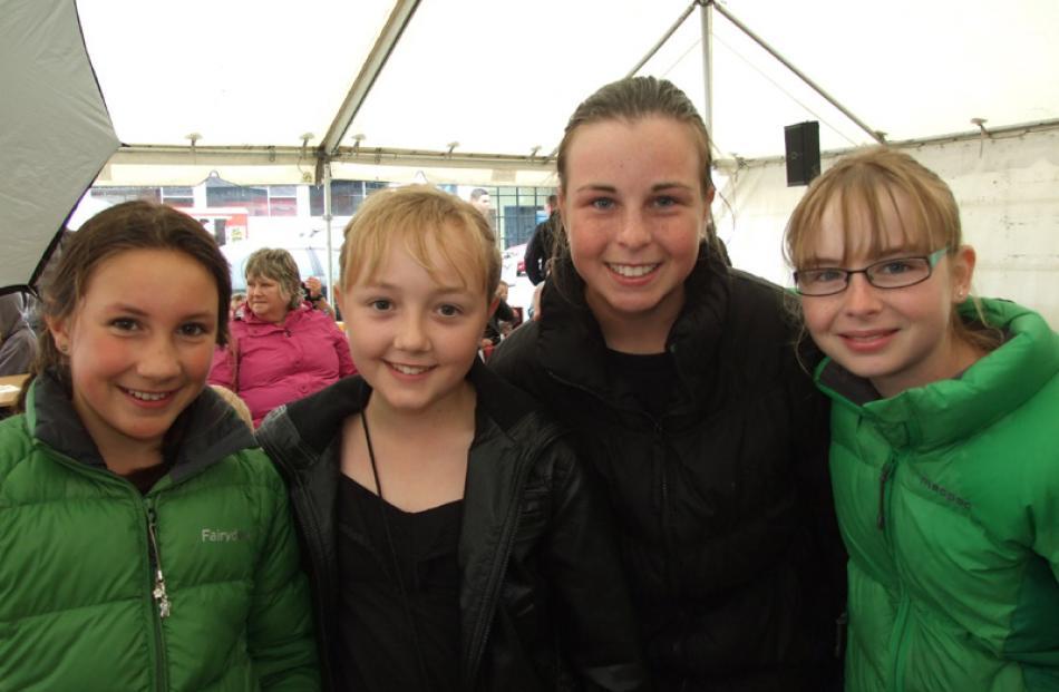 Olivia Clark (11) of the Catlins, Olivia van Asperen (11), Abby Edwards (12), and Laura...