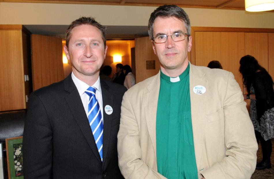 Andrew Maffey and president of the Board Rev Eric Kyte, vicar of St Johns, Roslyn, both of Dunedin.