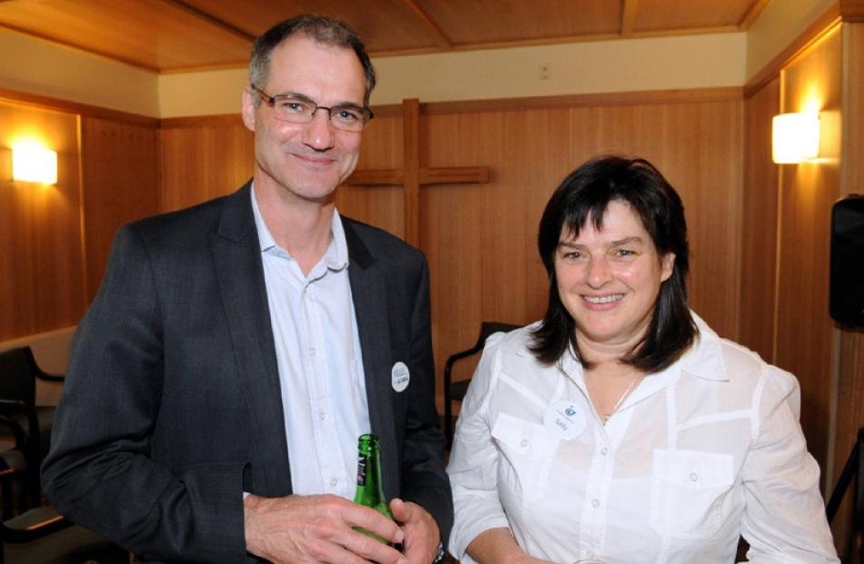 Resident doctor Andrew Smillie and quality manager Sally Fleming, both of Dunedin.