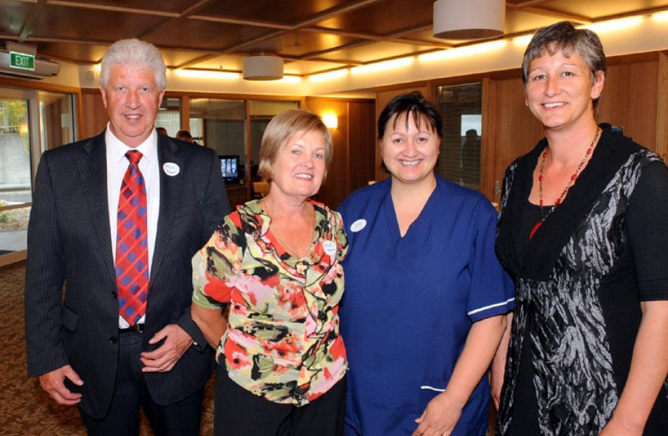 Robert and Gaynor Campbell of Mosgiel, clinical team leader Hinewai Ngatai, and Jannette Hope,...