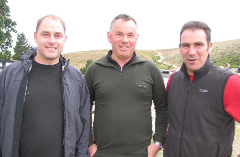 Hayden Johnston, of Earnscleugh, Matt Sole, of Tiger Hill and Terry Davis, of Lowburn.