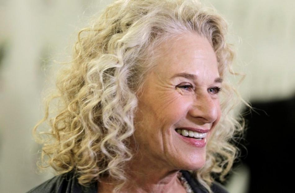 Carole King is interviewed at 'A Celebration of Carole King And Her Music' - a concert to benefit...