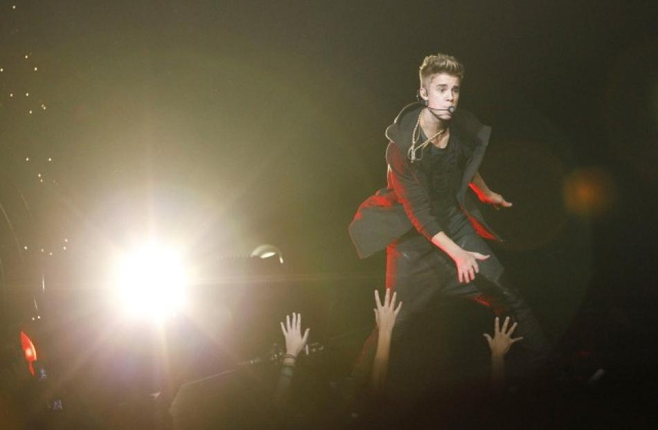 Justin Bieber performs at KIIS FM's Jingle Ball concert in Los Angeles, California. REUTERS/Mario...