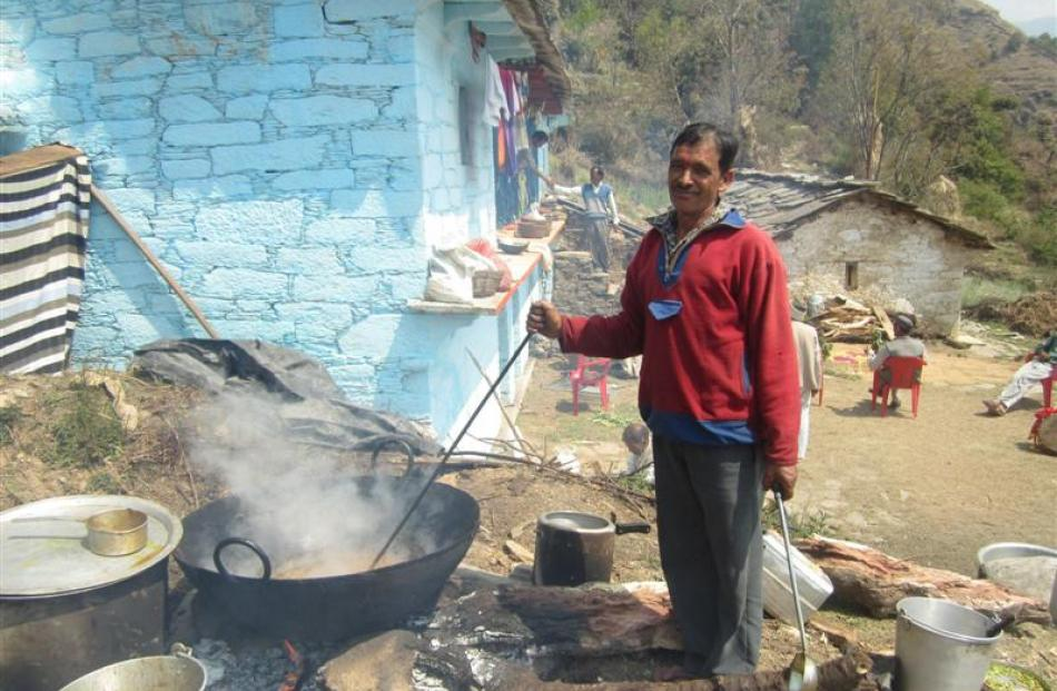 A Garhwali man from Anthwal village in the Indian state of Uttarakhand, near the Himalayan border...