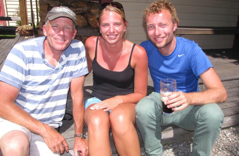 Harry Kegel of Cardrona Valley, and Suzanne Verkaaik and Koen Kegel of the Netherlands.