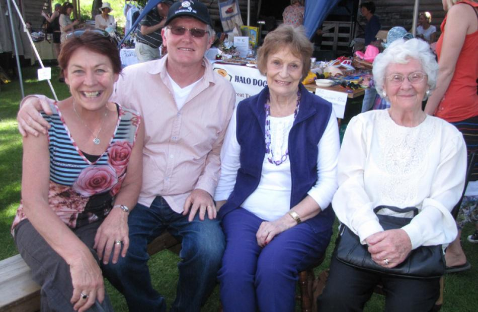 Yvonne Fogarty and Tony Eyre of Dunedin, Maryanne Bayliss of Auckland, and Audrey Fogarty of...
