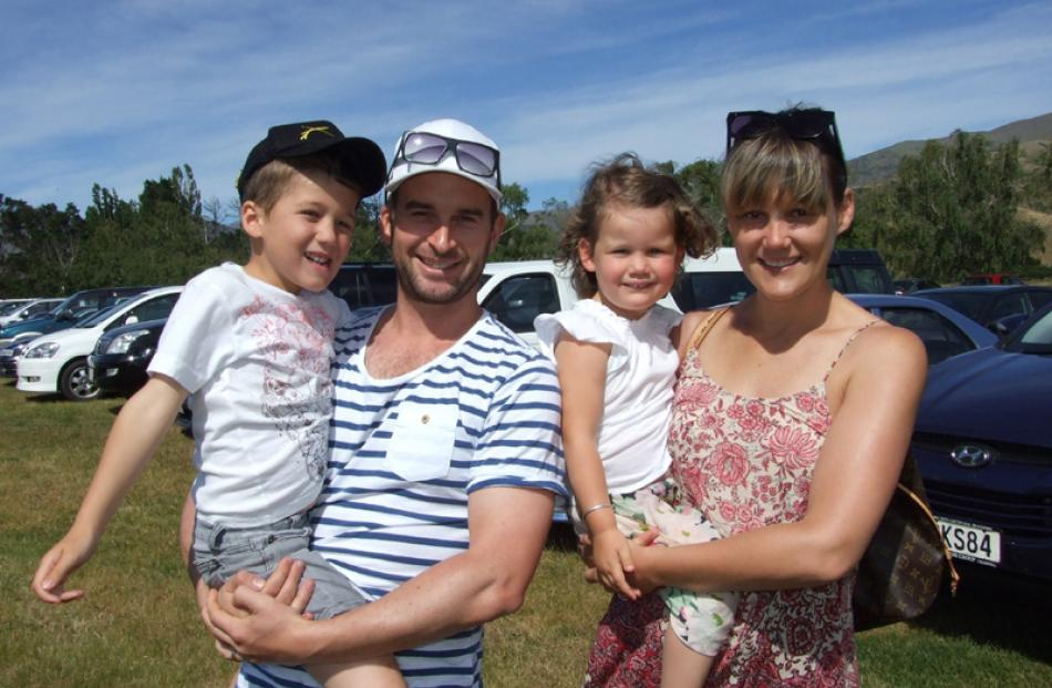 George and Macayla Chapman, of Wanaka, with Olly (5) and Indie (2).