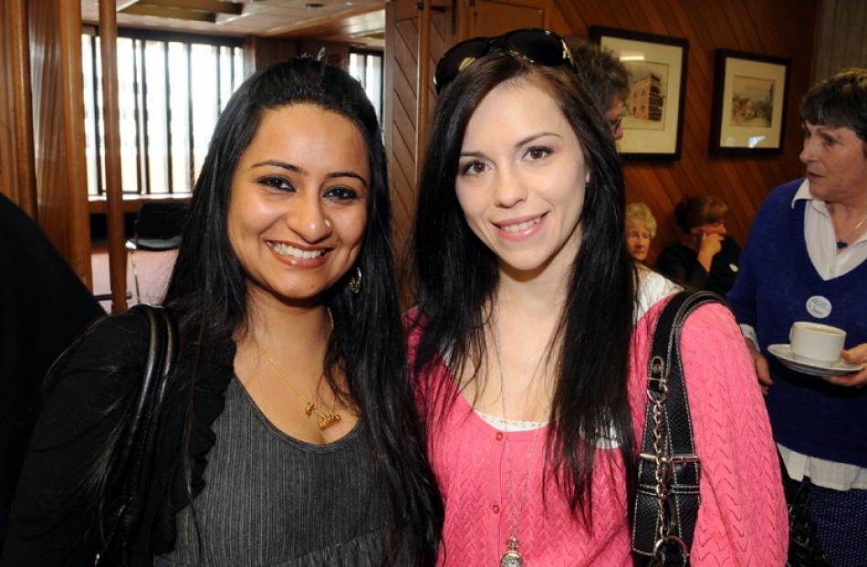Swaroopa Unni and Alexandra Dobre, both of Dunedin.
