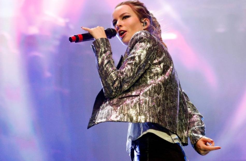 Bridgit Mendler performs at the Jingle Ball 2012 in Atlanta, Georgia. REUTERS/Tami Chappell