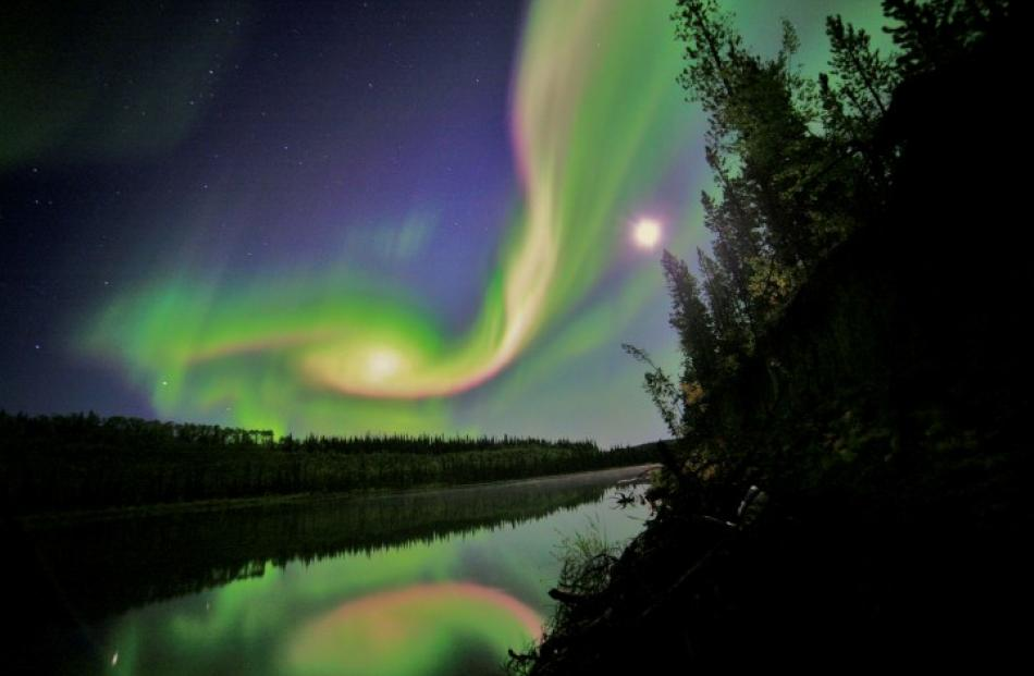 An aurora appears in the sky over Whitehorse, Yukon on the night of September 3. REUTERS/Courtesy...