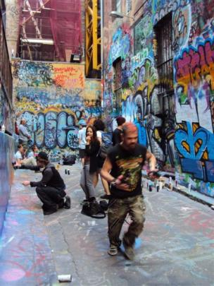 Melbourne actively encourages graffiti art in designated ''street art zones'' whose walls are an...