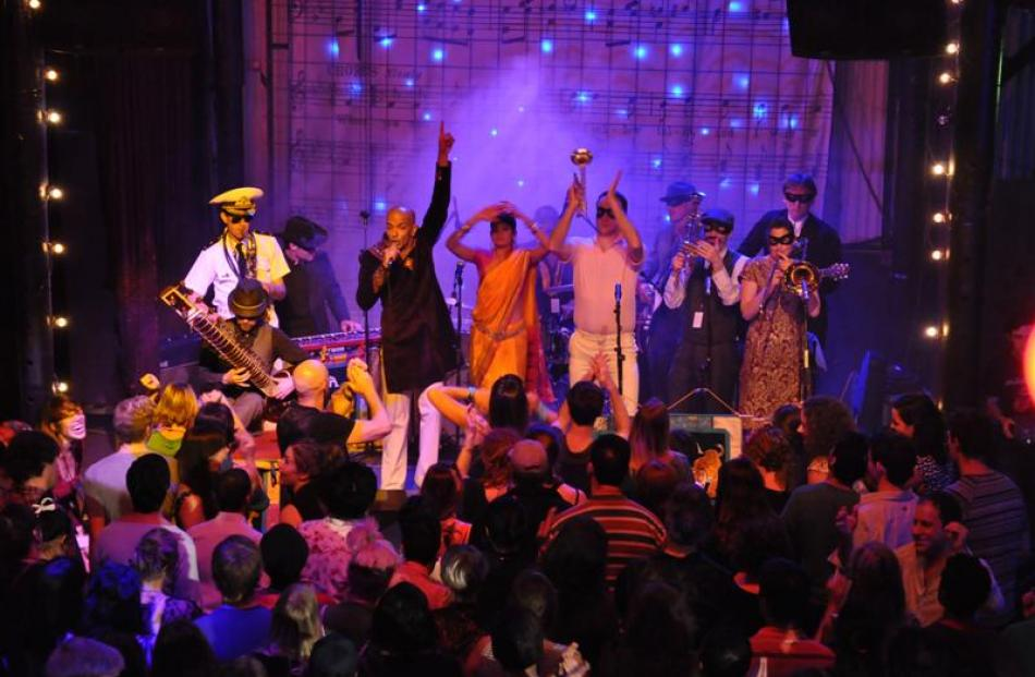Retro-Bollywood funk band Bombay Royale kicks up a storm with a free concert during the Melbourne...