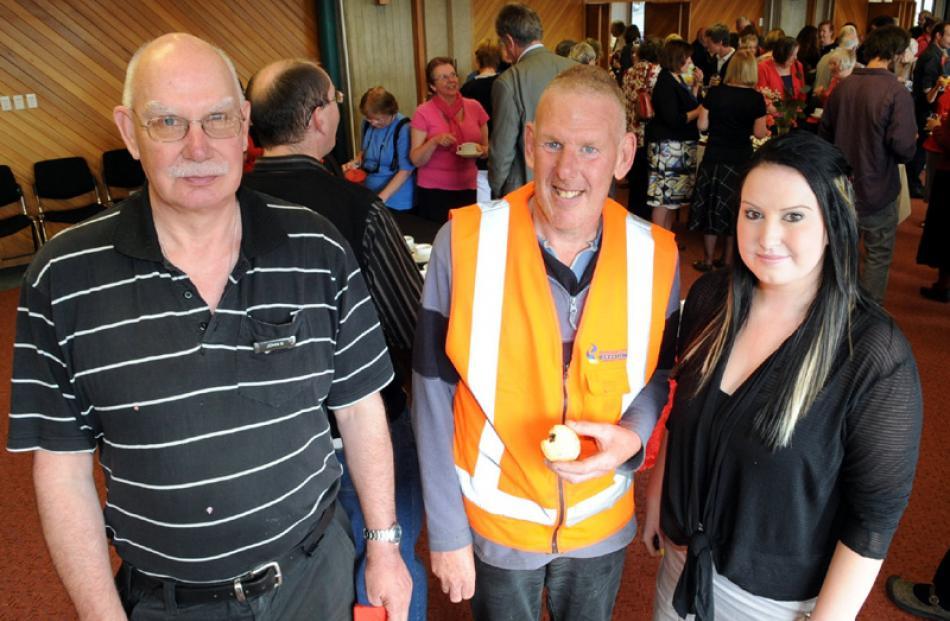 John Gourlay, Tony Watts and Courtney Dryden, all of Dunedin.