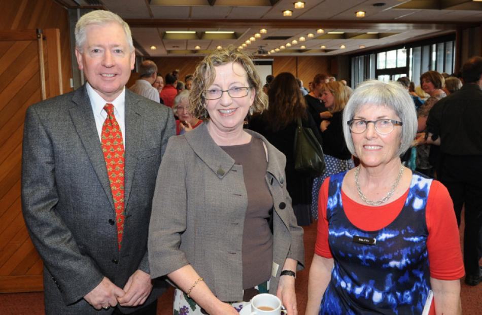 Library manager Bernie Hawke, Trish Brooking and Delyth Sunley, all of Dunedin.