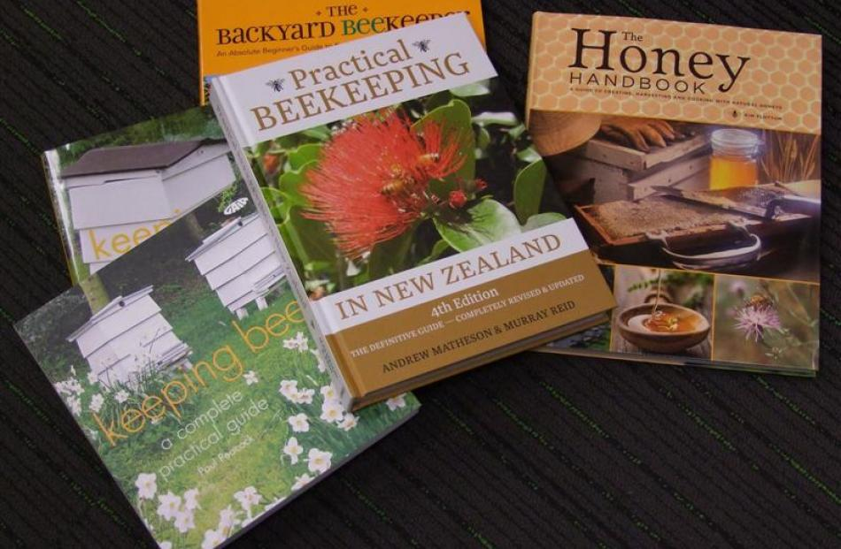 3. Books about beekeeping; PaperPlus, Dunedin, etc.