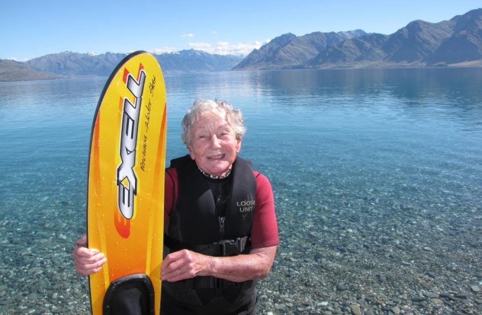 With perfect weather conditions in the Upper Clutha on Christmas morning, 85-year-old Wanaka...