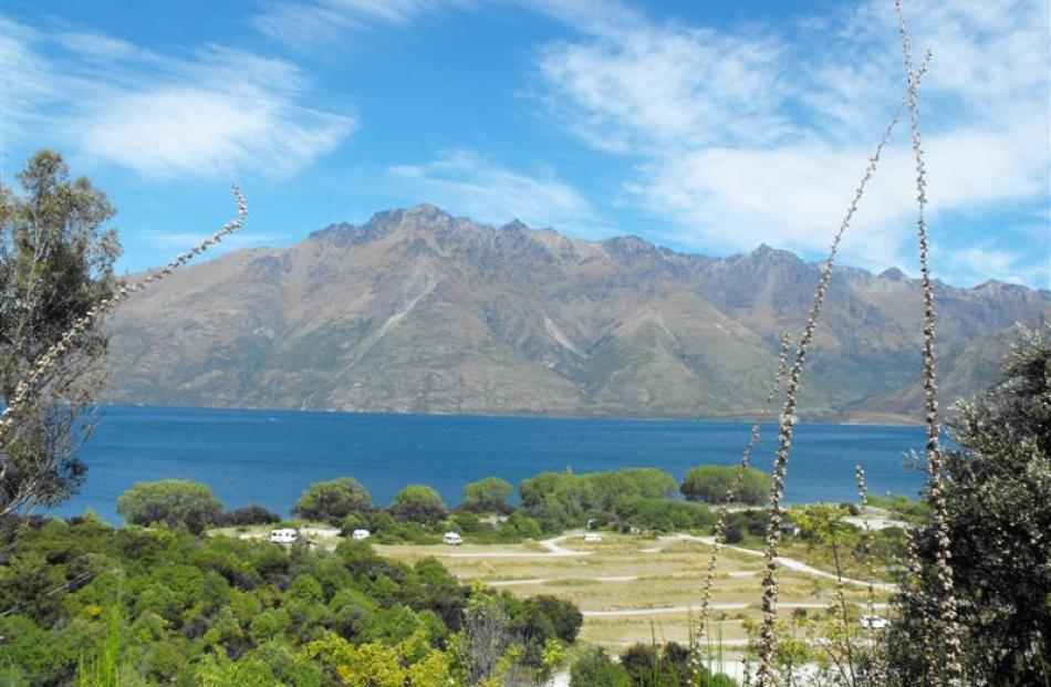 Still and serene is this view of the camping ground and the view over Lake Wakatipu. Photos by...