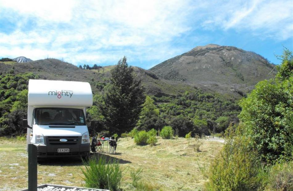 The camping ground provides a peaceful spot for tourists and  campers before the holiday rush.