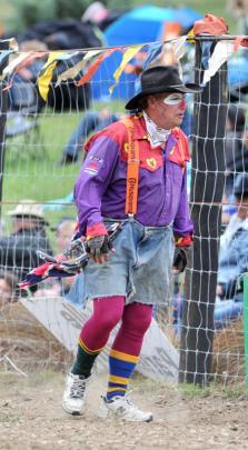 Clown Richard Robinson entertains the crowd.