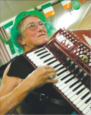 Stirring stuff: Janice Jaquiery, of Cromwell, had everyone's toes tapping.