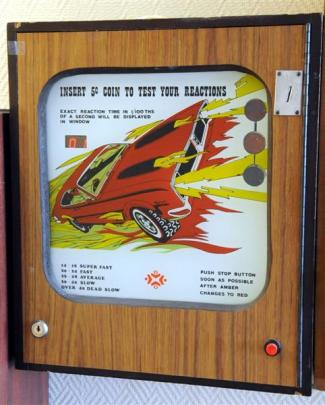 An old New Zealand flip ball machine invites players to test their hand-eye co-ordination and...