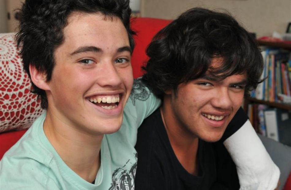It's always nice to have a happy ending and Kane Harvey (left) celebrated his 15th birthday with...