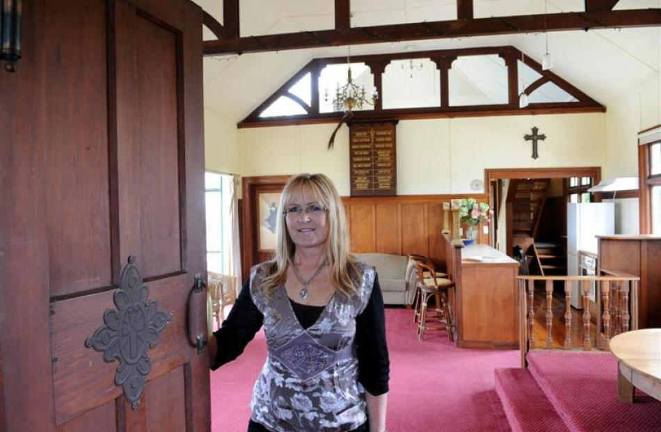 Nicky Jackson reveals the main room from the church vestibule.