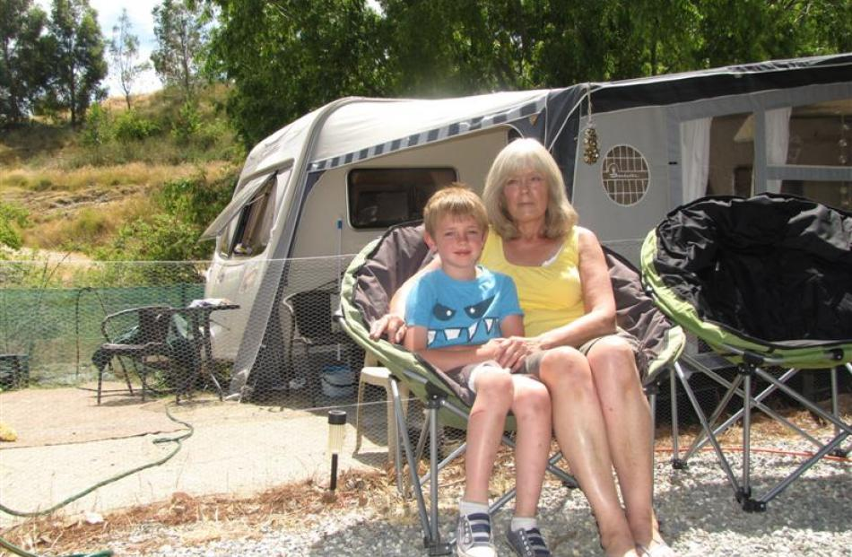 Sharon Monson, of Dunedin, has been camping at the Bannockburn Domain for about 20 years. This...