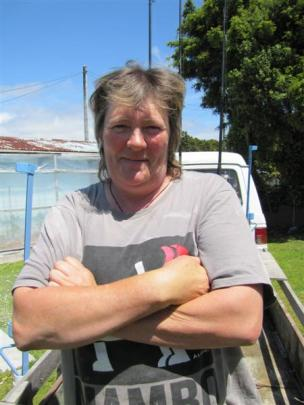 Jet-boat driver Vicki Cain, of Hannah's Clearing,  feels she is  probably against the road.