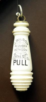 Peter Marsh has held on to aspects of Dunedin history, including this J. Wilson chain toilet handle.