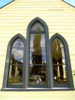 Attractive window frames indicate its church heritage.