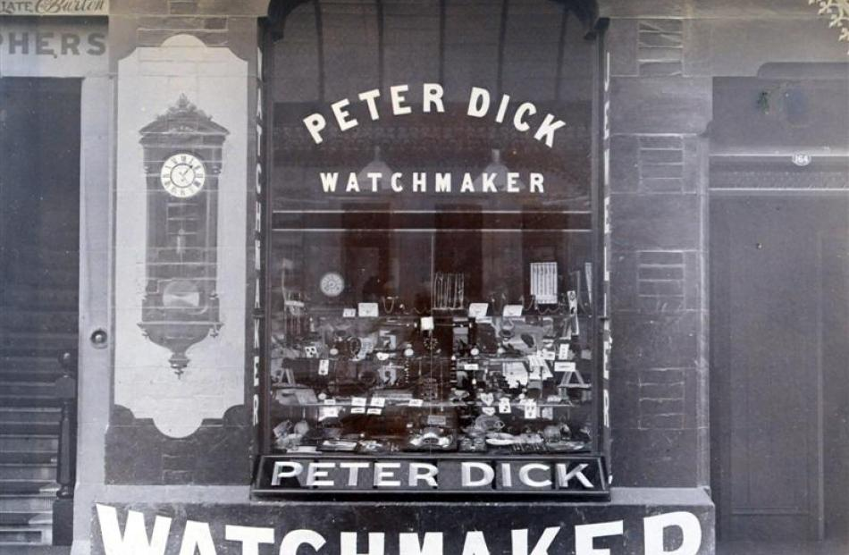 The original Peter Dick's Moray Pl store was expanded to include optician service (next photo)...