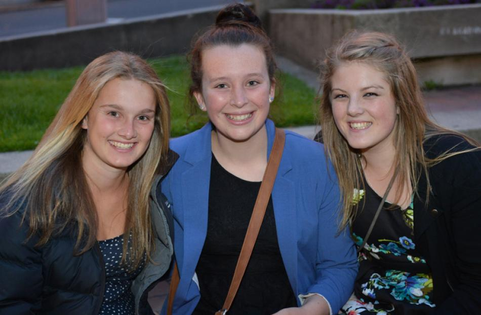 Phoebe Duncan (17), of Christchurch, Eve Biss (17) and Jess Lavelle-Pool (17), both of Dunedin,...