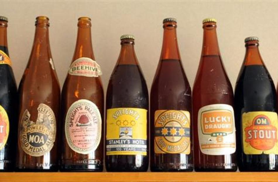 Moffat's Otago brewery collection includes vintage bottles still with their original contents.