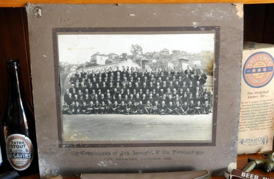 While collecting New Zealand breweriana, Pete Moffat has found this photograph of ''Jas Speight &...